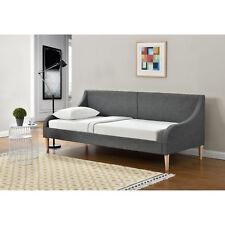 [en.casa] LIT DE JOUR 90 x 200 cm Canapé pour dormir lit tissu châlit