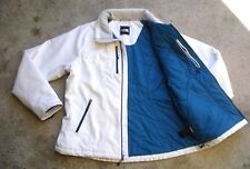 The NORTH FACE PRIMALOFT puffer lined Softshell Jacket Hooded Men's M White Blue