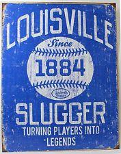 LOUISVILLE SLUGGER METAL SIGN Baseball Bat Ad Poster NEW Vintage Repro USA Tin