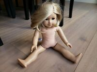 American Girl Doll Truly Me #24 Naked Doll Short Hair Blonde Freckles Blue Eyes