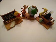 Winnie The Pooh Dolly's Gallery chalk Tigger Globe Rabbit tape dispenser lot 3