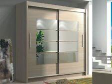 Bedroom Mirror Sliding Door Wardrobe TORONTO Oak Sonoma 5.9ft /180cm Width