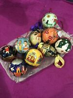 Vintage Macys Bloomingdales Ornament Set Original Bag Hand Painted Parade India
