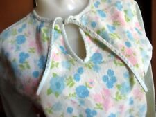 XS True Vtg 70s ULTRA THIN RELIC FLANNEL PINK/BLUE FLORAL PRINT HIPPY TOP