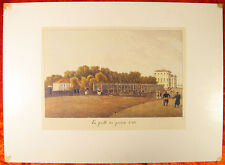 RUSSIAN Lithograph PETERSBURG Summer Gardens 1822 15.7x11.4inch Andrei Martynov