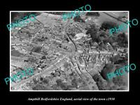 OLD LARGE HISTORIC PHOTO OF AMPTHILL ENGLAND, AERIAL VIEW OF THE TOWN c1930 4