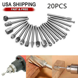 Engraving FILFEEL 10pcs High Speed Steel Burrs Rotary Files Woodworking Carving Tool Set 3mm Round Shank for Grinder Drill DIY Wood-Working Carving Drilling Soft Metal Polishing