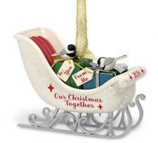 Hallmark 2018 Our First Christmas Together Porcelain Sleigh Ornament