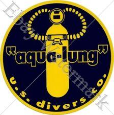 aqua-lung Diver decal sticker Aufkleber Diving plongee scuba tank Tauchen New