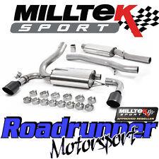 "Milltek Focus RS MK3 Exhaust System Cat Back 3"" Stainless Resonated Black & EC"
