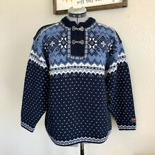 Norwegian Wool Sweater Gjestal Norway Exclusive L Clasp Lodge Size S