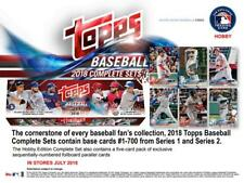 2018 Topps Baseball Factory Hobby Set (705 cards with 5 Bonus Parallels)