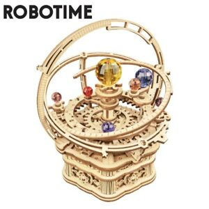 Robotime DIY 3D Starry Night Wooden Puzzle Game Assembly Music Box Toy Gift