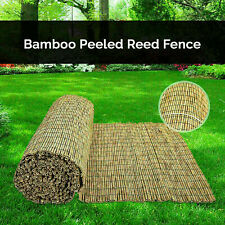 More details for 4m bamboo screening roll natural fence panel peeled reed fencing outdoor garden