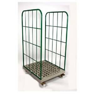 SET 5 Stück Gittercontainer Gitterrolli 2 Seitig Kunststoffboden 500 KG 2. Wahl