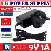 TO FIT BOSS PSA-240 GUITAR EFFECTS PEDAL NOISE FREE POWER ADAPTER CHARGER 9V UK
