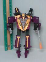 2002 Transformers Armada Supercons Sideways Action Figure Purple Motorcycle Rare