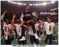 NFL 1986 Super Bowl Champs Chicago Bears Mike Ditka Color 8 X 10 Photo Free Ship
