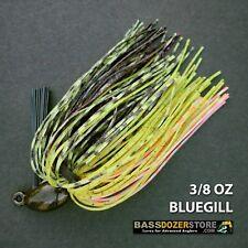 Bassdozer PUNCH 'N FLIP jig. 3/8 oz BLUEGILL weedless bass jigs lures