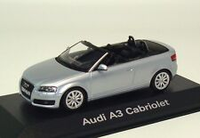 Audi A3 Cabriolet convertible 2008 eissilber ice silver Minichamps 1:43 dealer