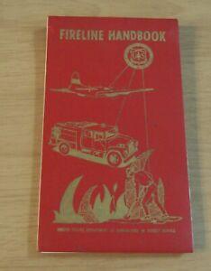 "1971 DOUBLE-Sided FLIP FIRELINE Handbook~""US FOREST SERVICE"" Illustrations~(JC)"