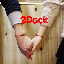 2Pack Fashion Women Lucky Bracelets Bead Red String Ceramic bracelets
