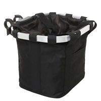 Dog Bicycle Bike Bag Front Pet Cat Travel Carrier Handlebar Basket Seat Black