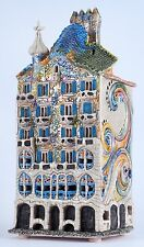 Ceramic house tea light holder 'Casa Batllo in Barcelona,Spain', 28 cm, © Midene