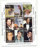 1997 Tiger Woods Turkmenistan Stamp  Sheet Rookie Rare