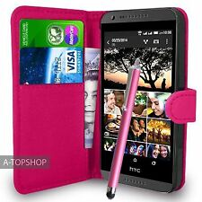 Pink Wallet Case PU Leather Book Cover For HTC DESIRE 620 620G Mobile