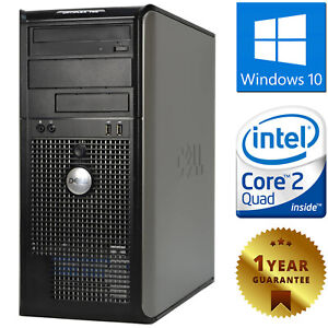PC COMPUTER DESKTOP RICONDIZIONATO DELL CPU QUAD CORE RAM 4GB HDD 250GB WIN 10