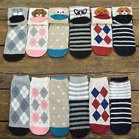 Women Warm Cartoon Fashion New Cute Short Socks Ankle Dog Puppy Print Cotton