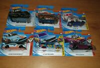 6 x Hot Wheels Cars Bundle: Ford Mustang, Dodger, Nova Wagon, Ford F-100, Chevy
