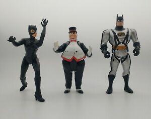 Lot of 3 - 1992 Catwoman + Penguin Figure + 1993 Batman Classic Mattel DC Kenner