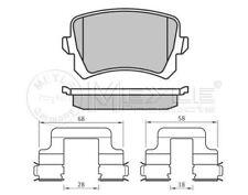 025 244 8317 MEYLE Brake pad set fit WVA