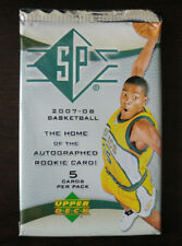 2007-08 UPPER DECK UD SP BASKETBALL FACTORY SEALED 5pack AUTOGRAPHED ROOKIE CARD