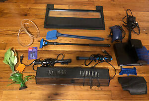 Assorted Fish Tank Items—Hood/ Light-Scraper-Heaters-Oxygen pump-Filter+ Used