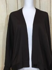 FUSUN LUXURY BROWN BAT SLEEVES CARDIGAN WOMENS SWEATER SIZE M (3-B)