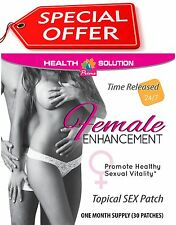 Female Enhancement. Promotes Sexual Vitality. Tribulus Terrestris (30 Patches)