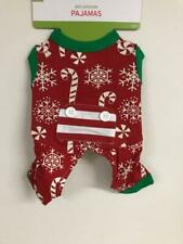 Holiday Dog Pet Pajamas Costume Snowflake & Candy Cane New