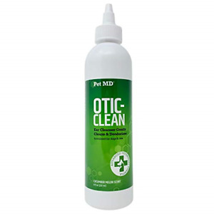 Pet MD Otic Clean Dog Ear Cleaner for Cats and Dogs - Effective Against Caused -