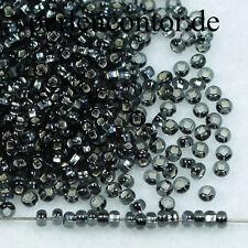Glasperlen  23 g  grau Silberblatt 2,3 mm Preciosa Rocailles 2500 Stück (AZ1141)