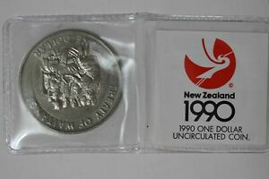 New Zealand Dollar 1990 UNC TREATY OF WAITANGI (MG42M4)
