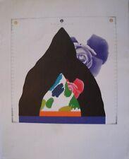 """Concetto Pozzati - Fotolito 1972 """"Come misurare le rose in montagna"""" Bolaffi"""