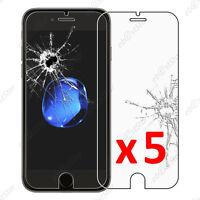 5 Film protection écran VERRE Trempé Vitre anti casse Apple iPhone 7 4.7 pouces