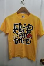 Angry Birds Computer Video Game Flip That Bird Canary Yellow NEW T Shirt Youth L