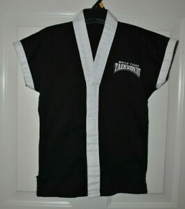 Kids Childrens Marital Arts Taekwondo Black Ribbed Uniform 2 piece set Size 0