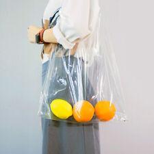 Women Travel Big Transparent Makeup Bag Clear PVC Tote Crossbody Shoulder Bag