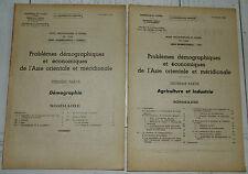 DOCUMENTATION FRANCAISE 1948 ASIE ORIENTALE & MERIDIONALE DEMOGRAPHIE ECONOMIE
