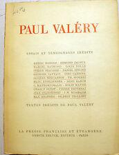 VALERY/ESSAIS ET TEMOIGNAGES INEDITS/O.ZELUCK/1945